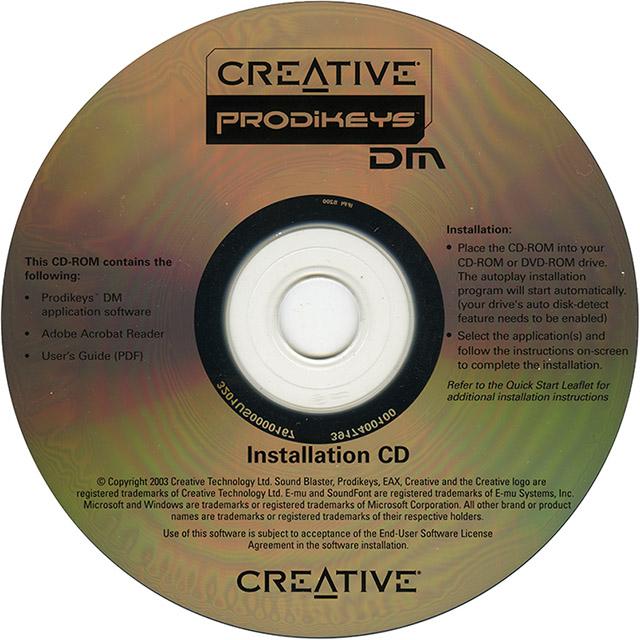 creative prodikeys dm software disc download